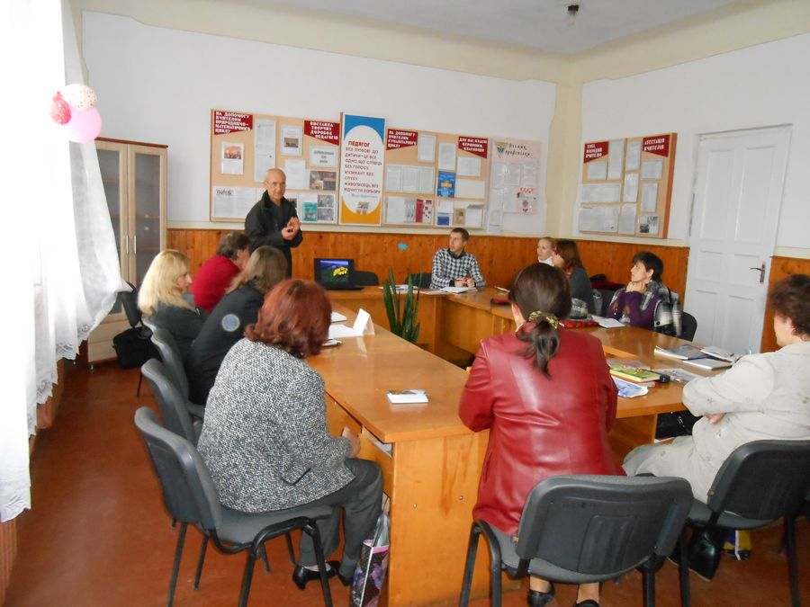Meeting in Dobrovliany Secondary School